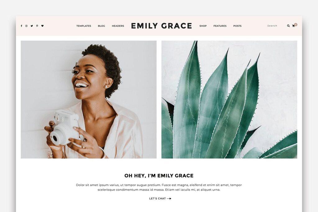 A blog and shop wordpress theme