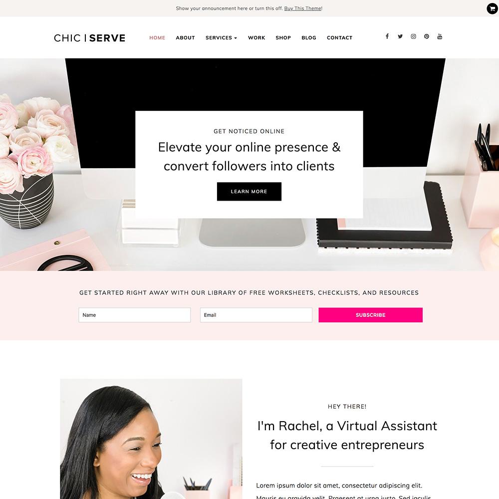best feminine wordpress theme for bloggers and entrepreneurs