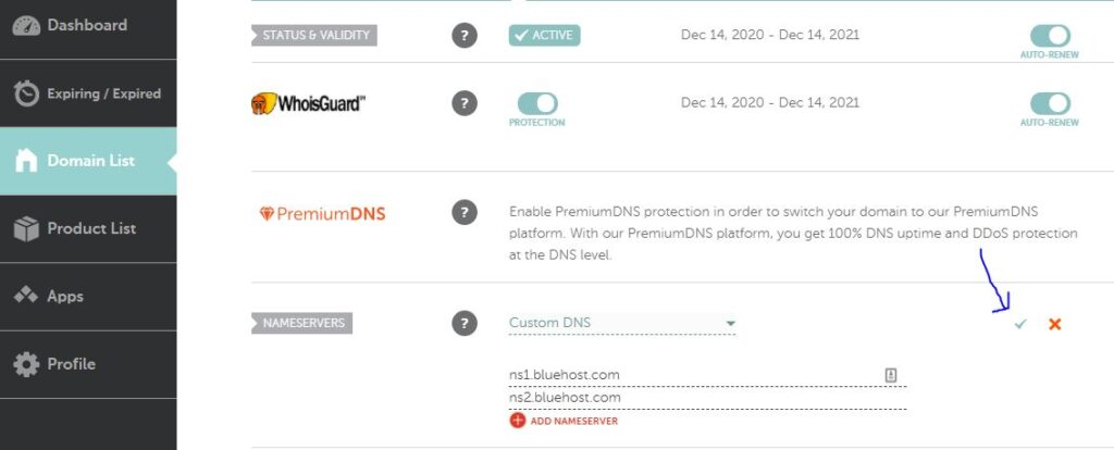 How To Point domain from namecheap to bluehost