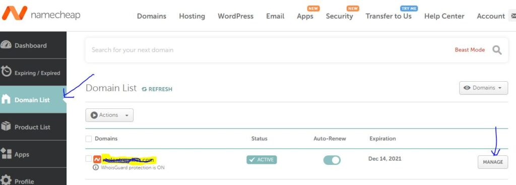 How To Point Namecheap domain To Bluehost