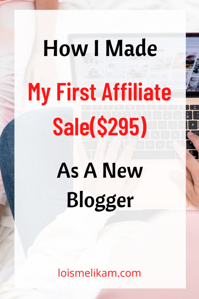 How I made my first sale as a new blogger - $295