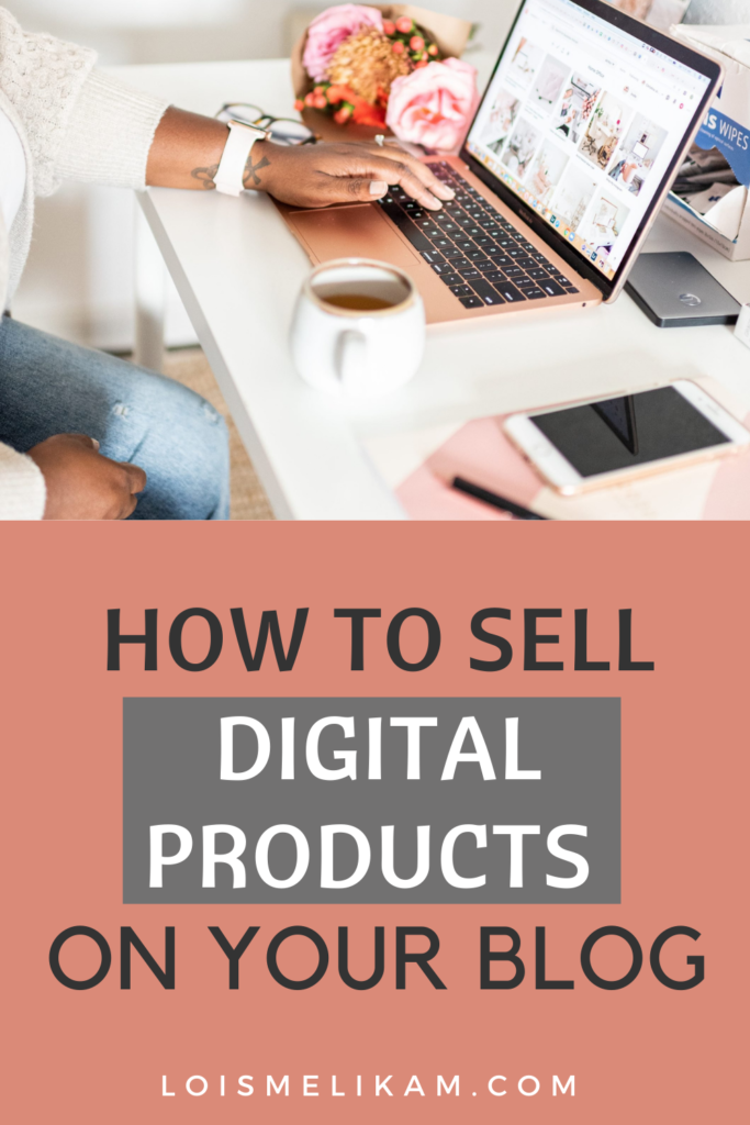 how to sell digital products on your blog